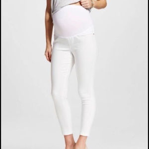 NEW Liz Lange Maternity White Jeans w/Flex Panel M